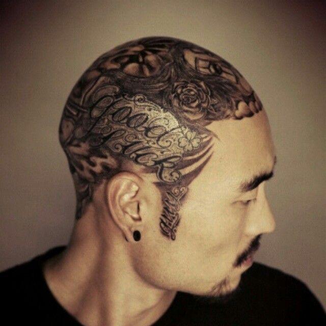 #headtattoo #tattoos #모글리 #강지민 #모글리타투 #chicanolettering #lettering #letteringtattoo #tattooism #mogly #tattooist