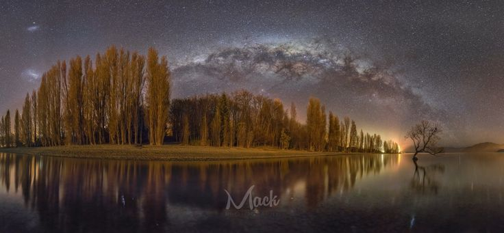 A re-edit from scratch on this panorama, going for a more natural feel. Original edit in the comments.  Shot whilst standing in the lake for over an hour in the middle of winter, totally worth it!  Follow me: https://www.facebook.com/mackphotographynz