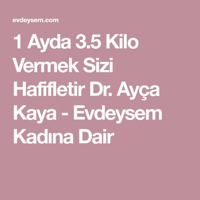 1 Ayda 3.5 Kilo Vermek Sizi Hafifletir Dr. Ayça Kaya - Evdeysem Kadına Dair