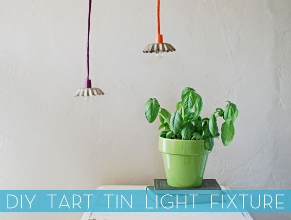 How To: Make a Light Fixture from a Tart Tin » Curbly | DIY Design Community