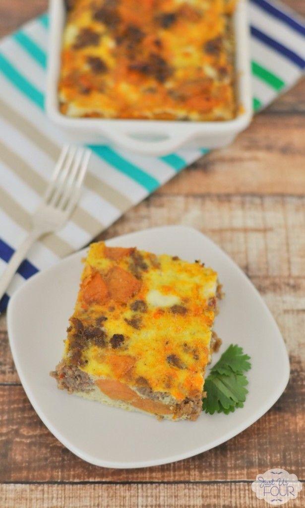 Paleo Overnight Breakfast Casserole   #justeatrealfood #justusfourblog