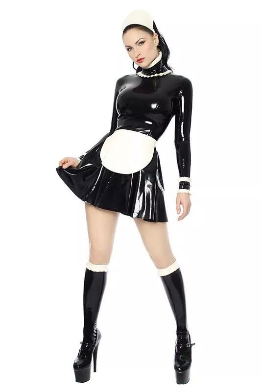 Latex maid outfit