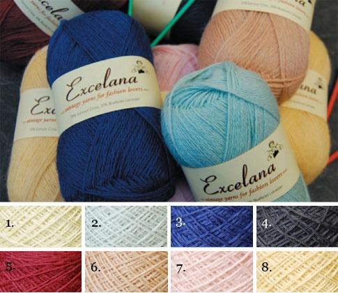 Exmoor Blueface 'Excelana' Wool - British Wool, vintage colours.
