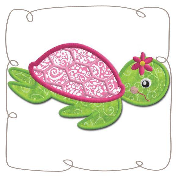 Turtle Applique Machine Embroidery Design Pattern-INSTANT DOWNLOAD