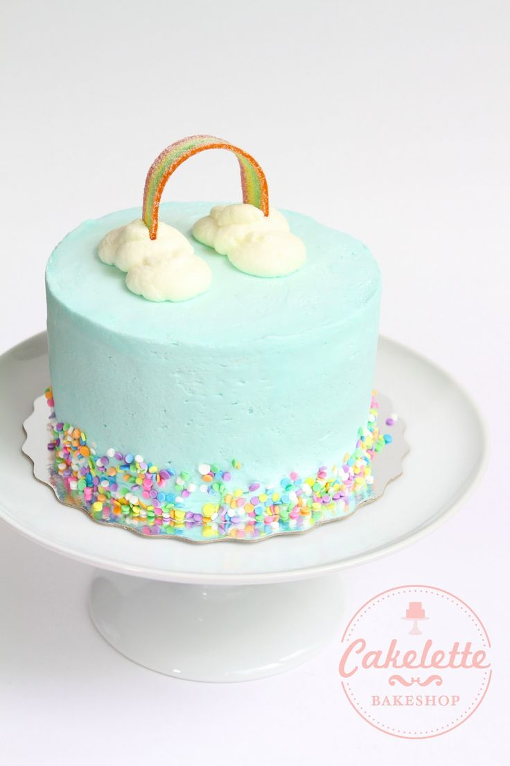 Birthday Cake Rainbow Design : 25+ best ideas about Simple birthday cakes on Pinterest ...
