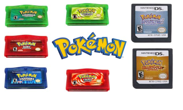 Pokemon GBA DS Game Cartridges US Version Reproduction Emerald Ruby Heart Gold  | eBay