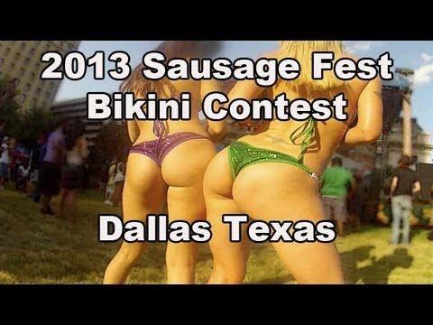 Bikini Contest at the Sausage Fest 2013 Dallas TX