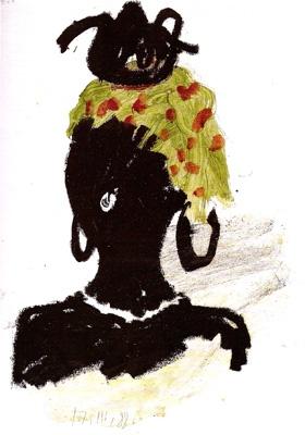 Femme portant une théière