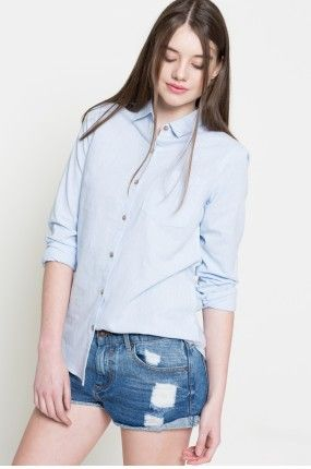Medicine - Koszula Linen Line kolor jasny niebieski RS17-KDD902 - oficjalny sklep MEDICINE online