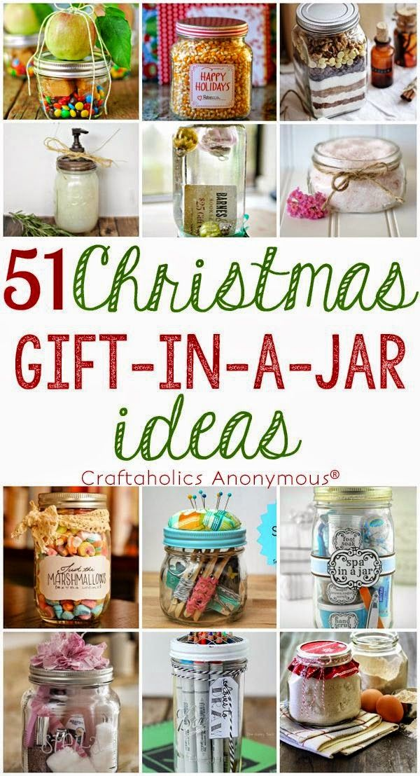 Helping Kids Grow Up: 51 Christmas Gift In A Jar Ideas