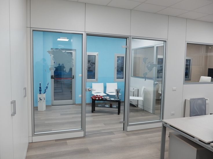 Wall Partitions Model ONE White and Glass