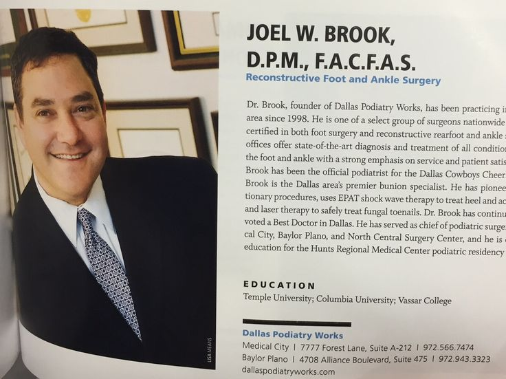 Need great foot care in dallas check out dr brook he
