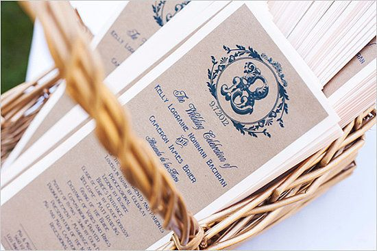 16 Unique (and Free!) Printable Wedding Programs: Let's face it, weddings can be expensive, which is why I've found some of the coolest, cutest, and chicest wedding program printables from all over the web.