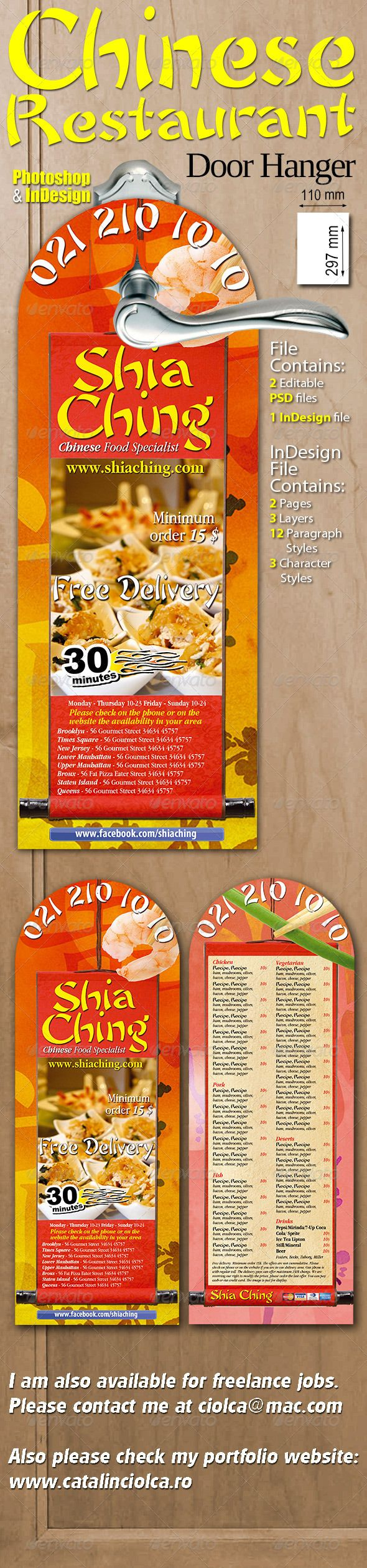 17 Best images about Print Templates – Restaurant Door Hanger Template