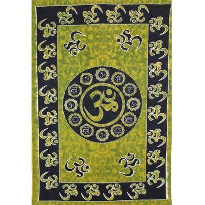 """Tenture murale """"Om"""" - symbole sacré de l'hindouisme"""