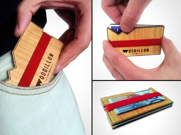 Porta Carte in Legno / Wooden Wallet di Woodillon