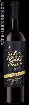 """Andean Vineyards The Waxed Bat Reserve Cabernet Sauvignon - Malbec, Mendoza, Argentina -- Quite possibly my new favorite """"go to"""" full-bodied red for chilly evenings, curled by the fireplace!  Thank you Wall Street Journal Wine Club."""