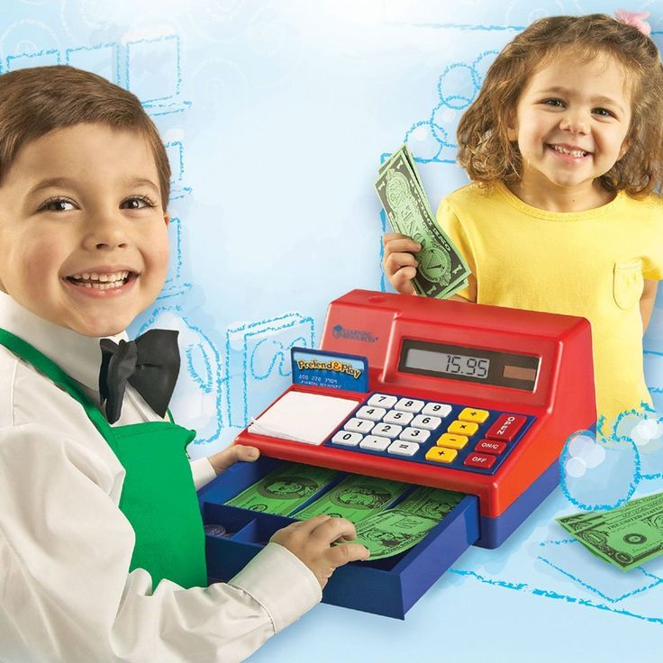 Amazon.com: Learning Resources  Pretend & Play Calculator Cash Register, 73 Pieces: Toys & Games
