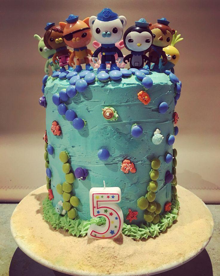 Octonauts Theme Birthday Cake for the little man's 5th Birthday 😊