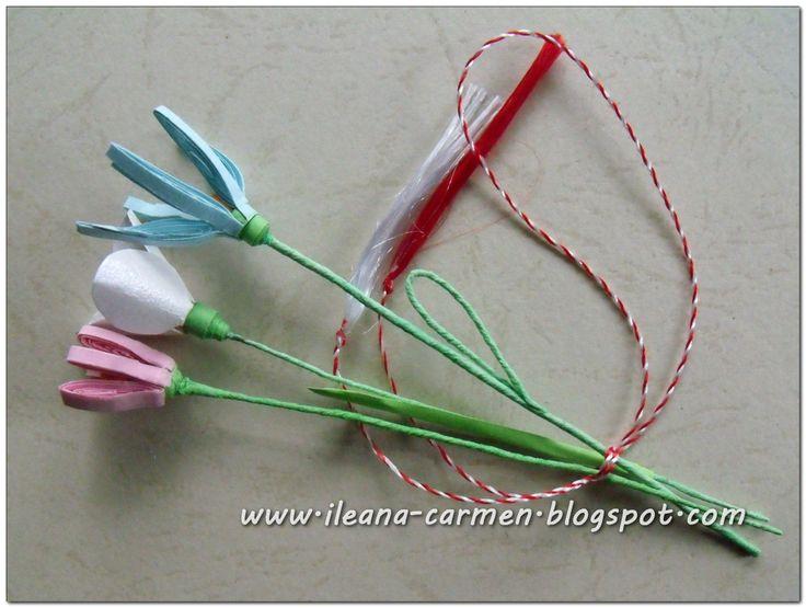 Quilling 3d - Spring Flowers. Martisoare realizate prin metoda quilling 3d cu flori de primavara.