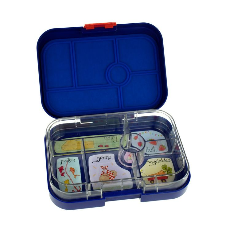 Yumbox Myrtille Blue with Whimsical Tray. A great little lunch box with different compartments to keep your kids food separated and you can get a little creative with it :)