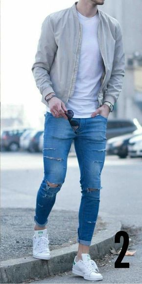 Casual - Bomber/Ripped Jeans - Tap the link to shop on our official online store! You can also join our affiliate and/or rewards programs for FREE!