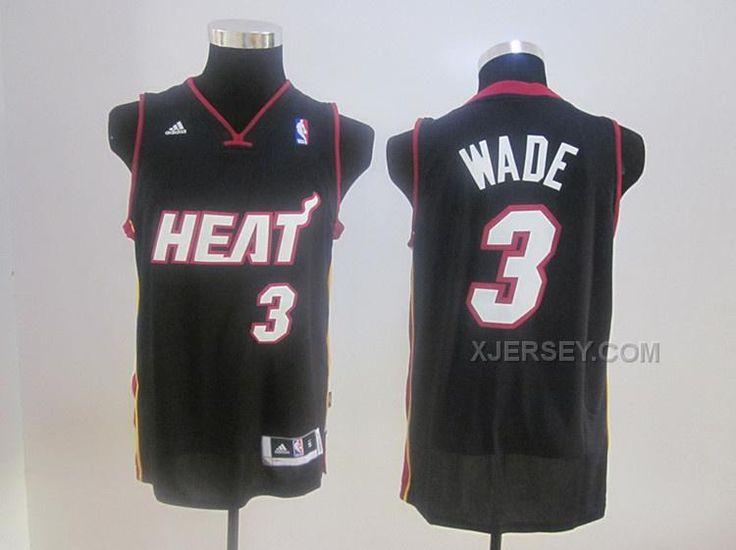 http://www.xjersey.com/heats-3-wade-black-jerseys.html Only$34.00 #HEATS 3 WADE BLACK JERSEYS Free Shipping!