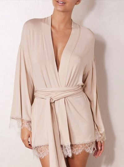 Naked Princess Lovely Ever After Cashmere  Lace Robe