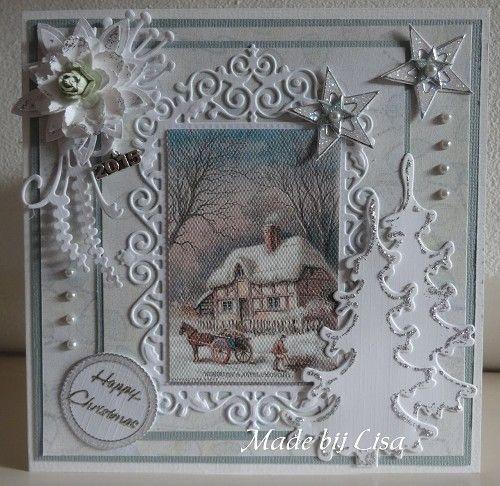 Voorbeeldkaart - Kerstkaart, - Categorie: Scrapkaarten - Hobbyjournaal uw hobby website