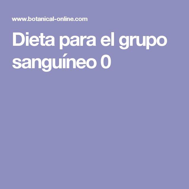 Dieta para el grupo sanguíneo 0