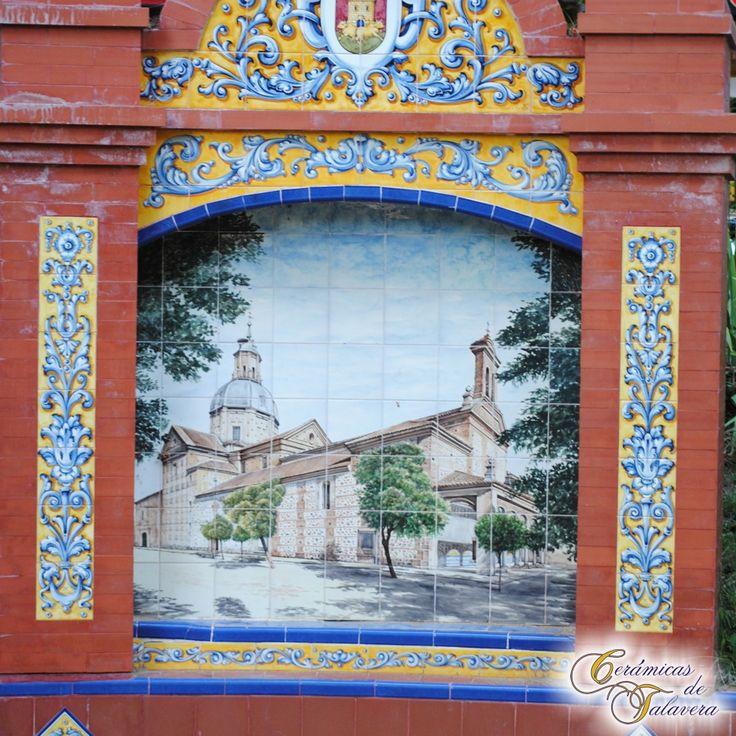 Mural de ceramica pintado a mano con imagen de la for Mural nuestra carne