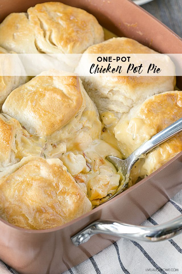 Simple one-pot Chicken Pot Pie, makes for a perfect family dinner. livelaughrowe.com