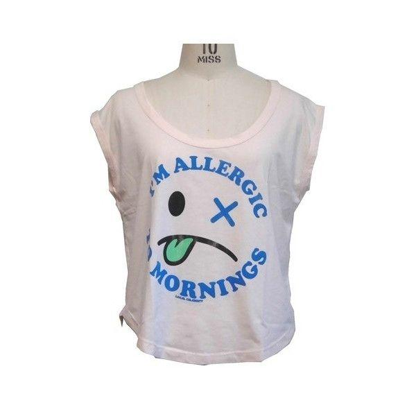 Local Celebrity ローカルセレブリティ レディース トップス Allergic to Mornings Muscle Tee おもしろtシャツ カットソー S M サイズ 各種 ブランド