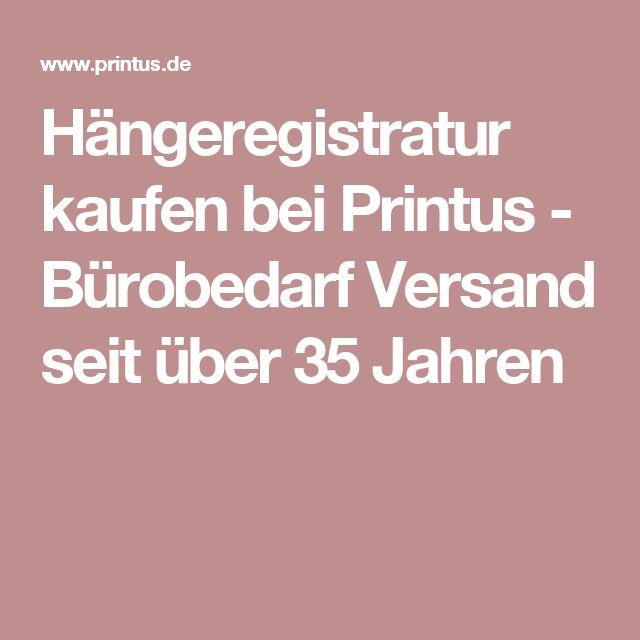 Hängeregistratur kaufen bei Printus - Bürobedarf Versand seit über 35 Jahren