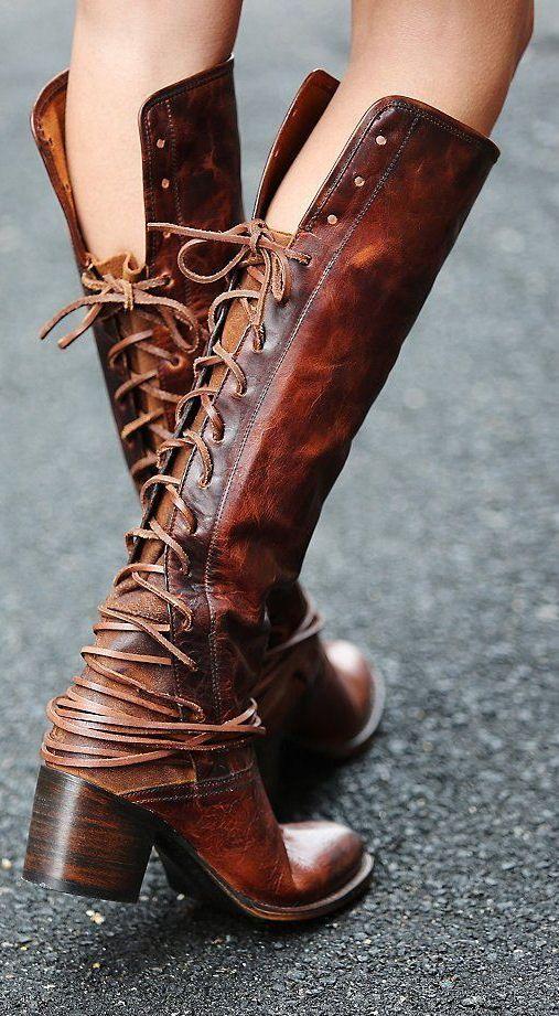 Lace-Up Boots ❤︎ L.O.V.E.