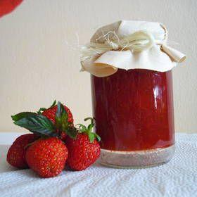 Domácí jahodová marmeláda s mátou