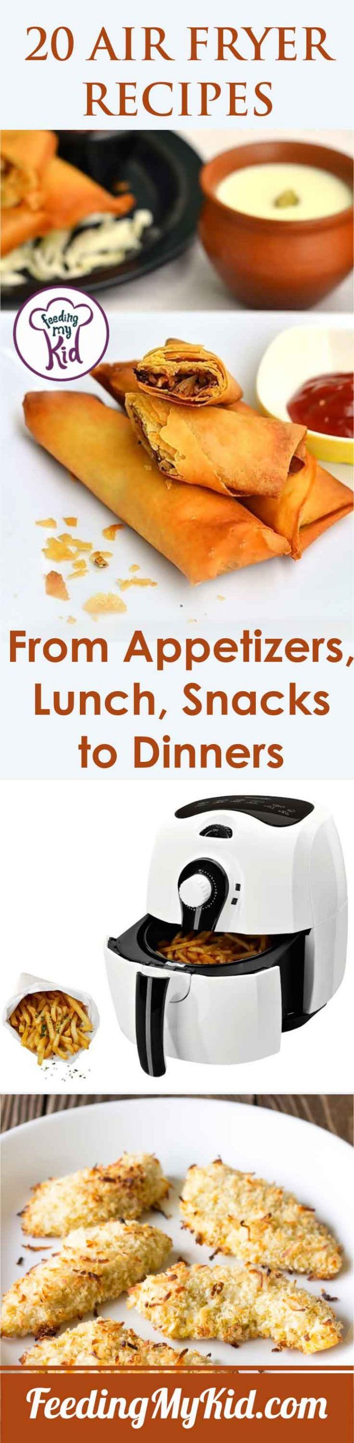20 Air Fryer Recipes from Appetizers, Lunch, Snacks to