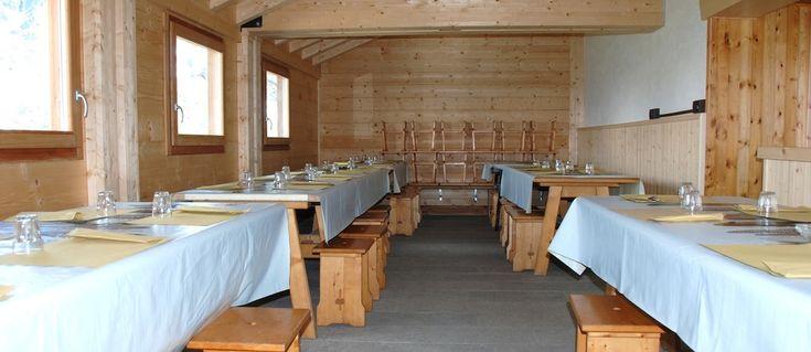 nuova sala da pranzo del rifugio Bertacchi