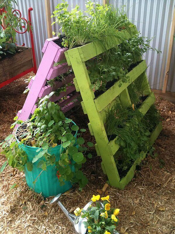 Garden Ideas Using Wooden Pallets best 25+ herb garden pallet ideas on pinterest | pallet planters