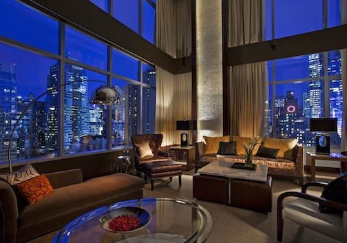 Valentine's Day: Places to go and things to do:  Live it up in the penthouse suite at the InterContinental New York Times Square.