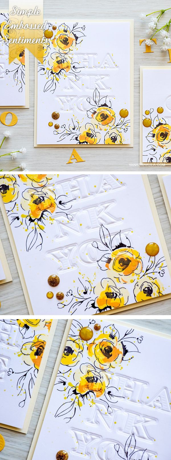 1274 best papercrafts images on pinterest invitations card create simple embossed sentiments for your cards with the help of alphabet dies video and kristyandbryce Gallery