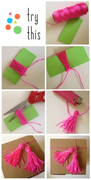 Twine tassels to adorn any plain gift box.