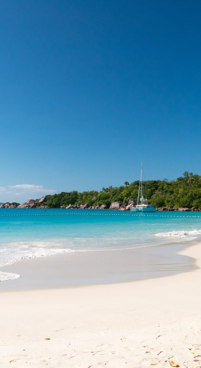 Anse Lazio, on the island of Praslin in the Seychelles, has frequently been voted best beach in the world. It is especially beautiful in the morning and at sunset when you can have the place to yourself
