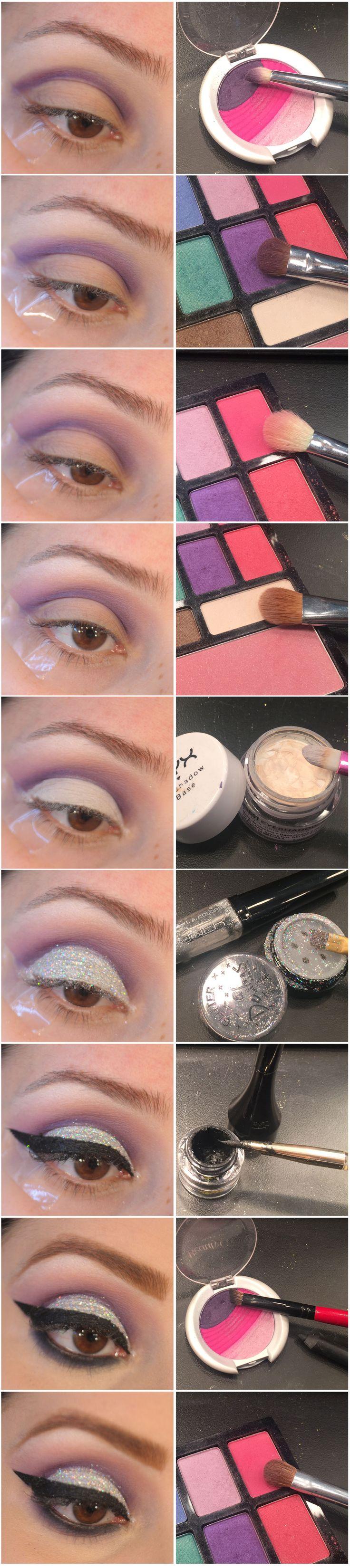 Maquiagem de Sexta – Glitter e delineador