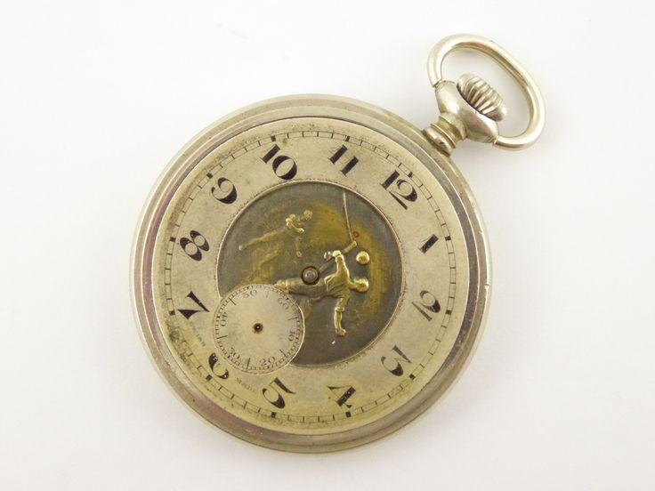 Interesting Antique Mechanical Pocket Watch with Embossed Dial Parts Steampunk - The Collectors Bag