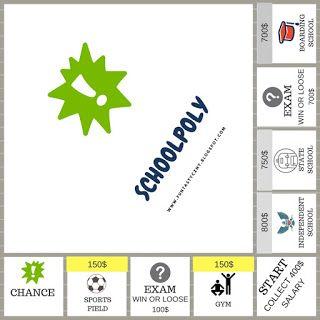 FUNtastyczny Angielski: Schoolpoly - Monopoly w wersji szkolnej do wydruku...