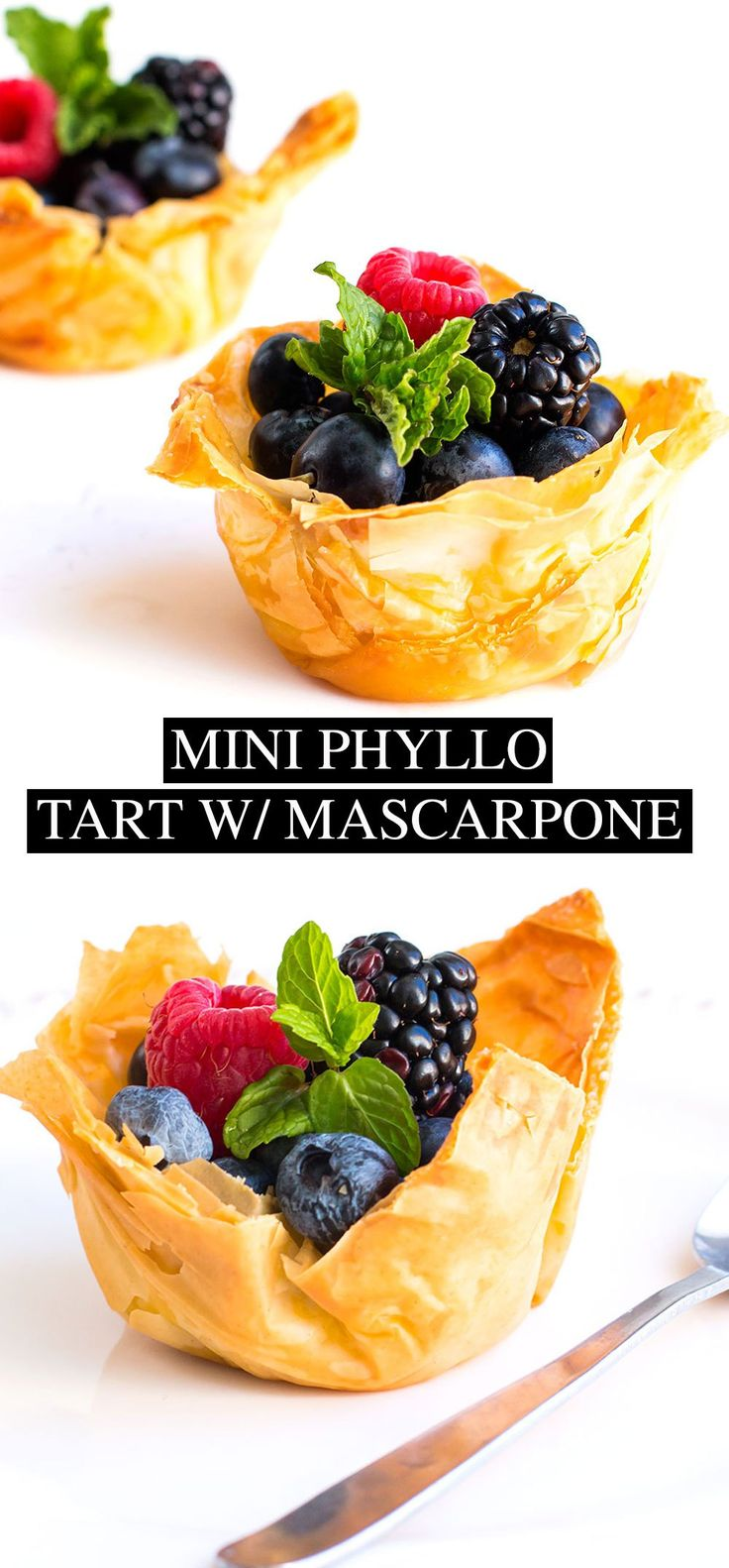 Mini Fruit Tart with Mascarpone Cream - Posh Journal Mini Fruit Tart with Mascarpone Cream: Easy to follow recipe crispy phyllo shells with lemony mascarpone filling and fresh mixed berries. #SweetSwaps #SplendaSweeties #ad
