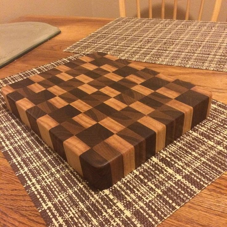 A picture of another one of my butcher blocks! Man these things are fun to make, especially when you see them done. Big checkered pattern made by two different shades of black walnut that contrasts with a maple.  #elevatedwoods #homemade #handmade #coloradomade #colorado #cuttingboard #butcherblock #maple #blackwalnut #walnut #endgrain #endgraincuttingboard