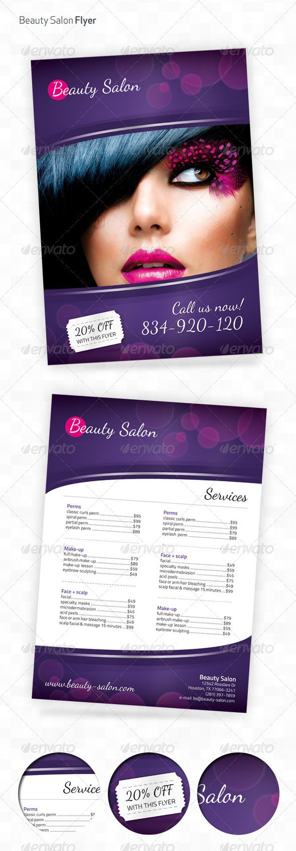 Beauty Salon A4 Flyer - Flyers Print Templates