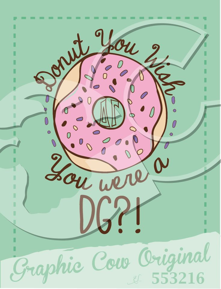 Donut You Wish You were a Delta Gamma sprinkles recruitment food #grafcow